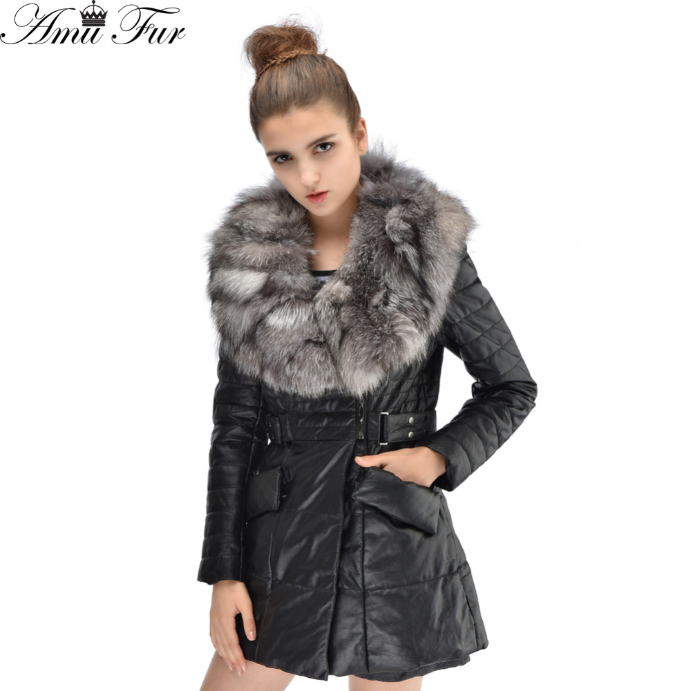 2016 New Winter Jacket Genuine Leather Jacket European