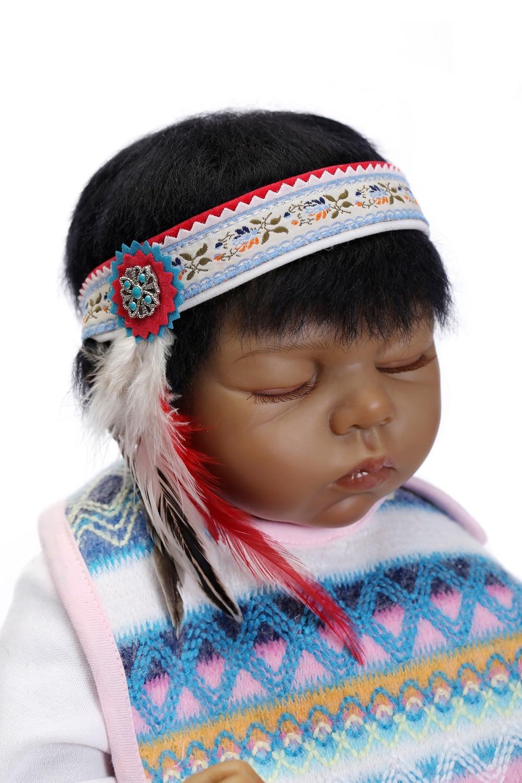 2015 Wholesale Lifelike Reborn Baby Doll Fashion Doll india doll dark brown colour new design doll aifei doll
