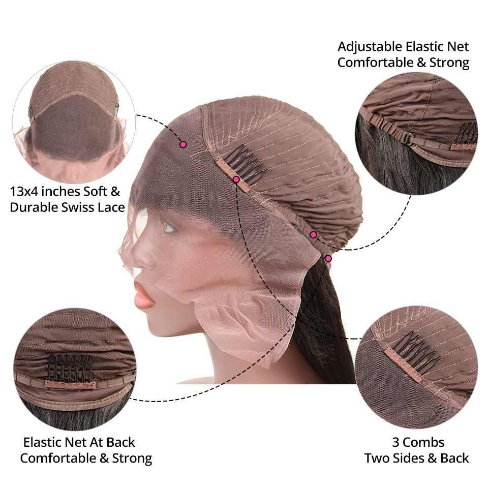Глубокая волна Синтетические волосы на кружеве человеческие волосы Парики 130 150 180 250 плотность предварительно сорвал бразильский человеческих волос парики для черный Для женщин волосы alipearl