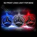1 pcs Grade Dianteira Do Carro Levou Luz Logotipo Emblema para Mercedes W176 W246 W218 X204 W166 W177 Viano etc. LED Luz Fria 5d Emblema lamp