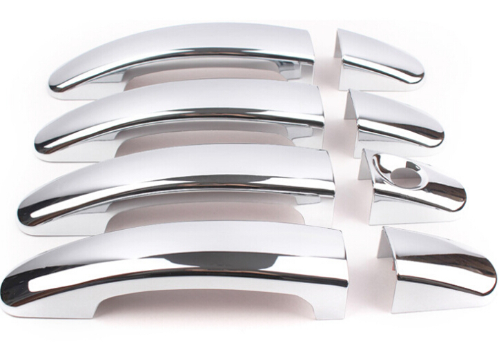 ABS chrome door handle cover trim decoration for Ford Focus 2 Focus 3 2005-2014 car accessories car styling door handle stickers nitro triple chrome plated abs mirror 4 door handle cover combo