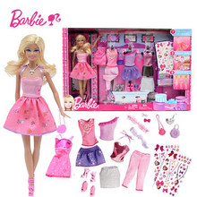 Barbie Original Doll Toys Princess Designer Fashion Combo Boneca Creative Desi Clothes Dress for Baby Reborn Girls