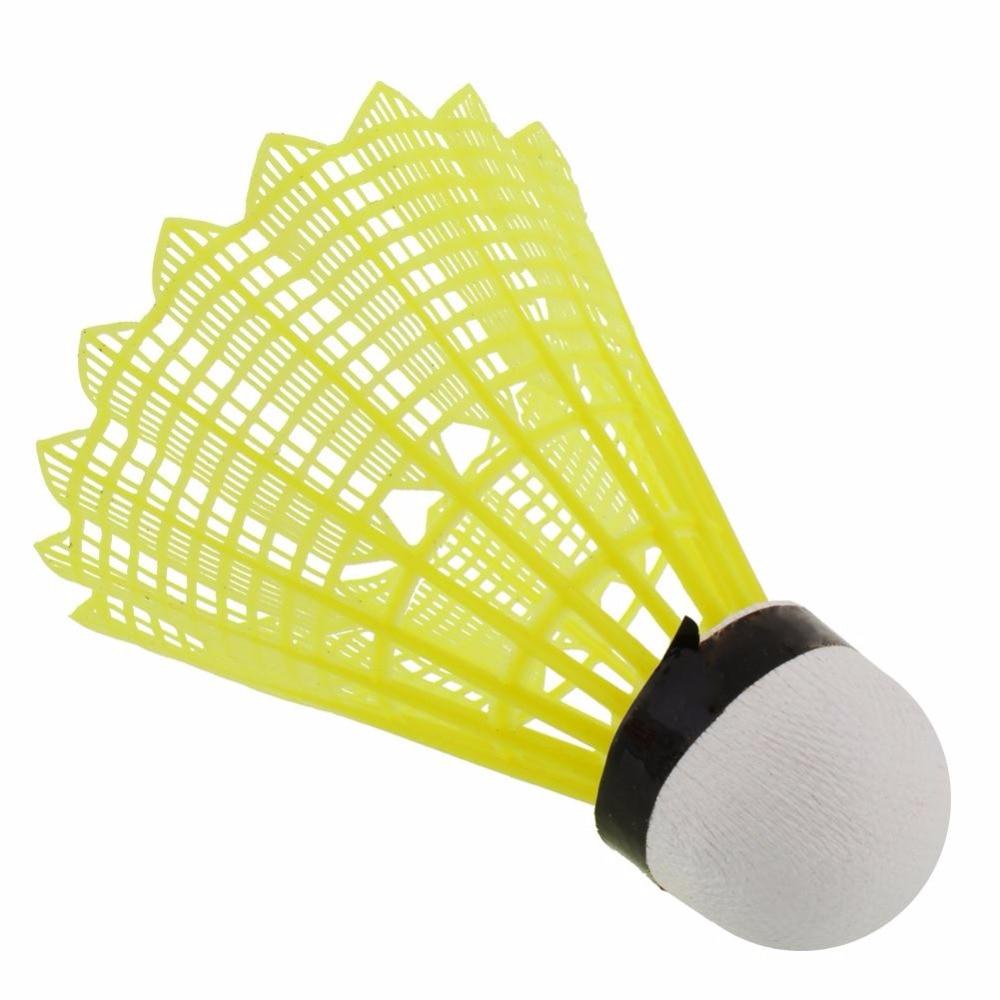 6pcs Train Gym Yellow Nylon Shuttlecocks Birdies Badminton Ball Outdoor Durable