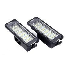 VODOOL 2Pcs 12V LED Anzahl License Platte Licht Lampen Auto Lizenz Platte Lichter Außen Zubehör für VW GOLF 4 5 6 7 Polo 6R