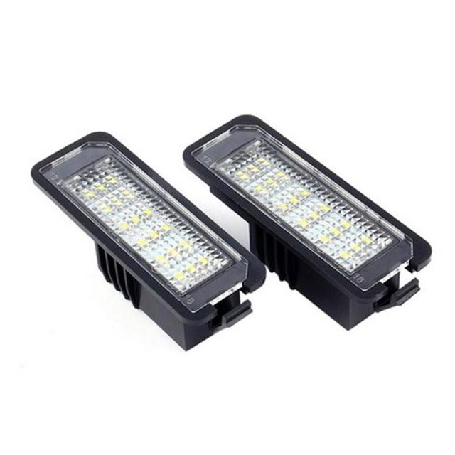 VODOOL 2Pcs 12V LED Number License Plate Light Lamps Car License Plate Lights Exterior Accessories for VW GOLF 4 5 6 7 Polo 6R