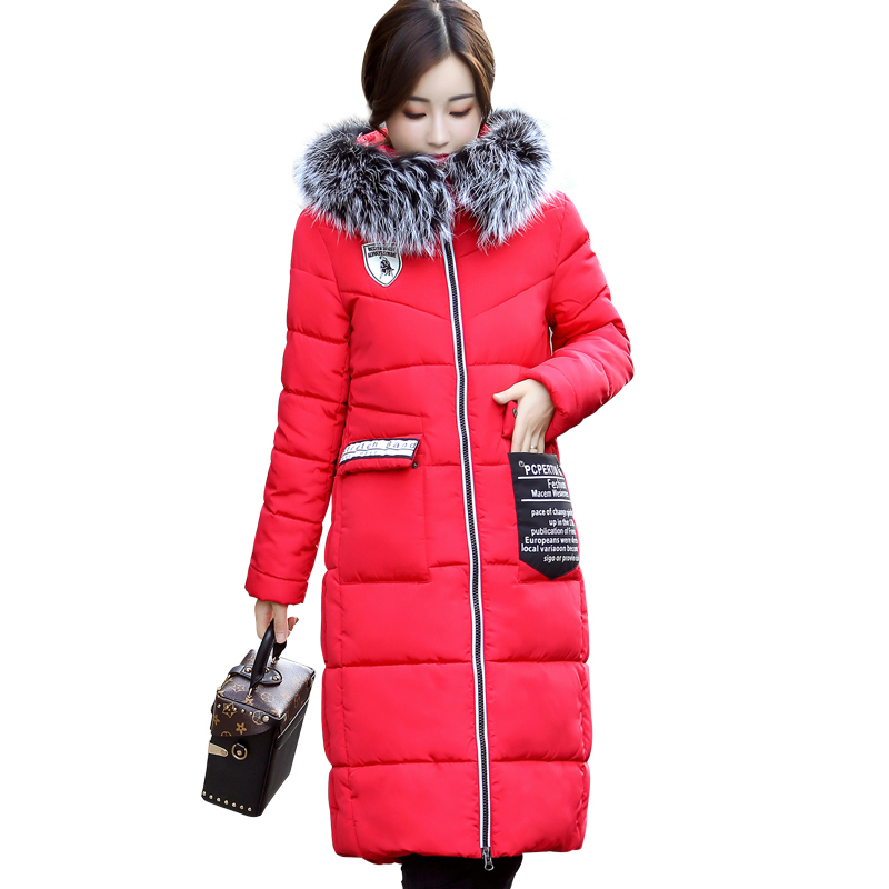 Parkas Women Winter 2017 Down Jacket Women Long Coat Parkas Thicken Jacket Female Warm Clothes Luxury Fur Collar High Quality 2015 hot new winter thicken warm woman down jacket coat parkas outerwear hooded fox fur collar luxury long brand plus size 2xxl