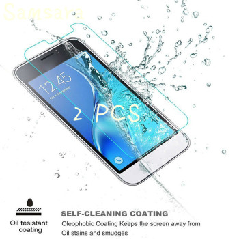 Samsara 2pcs 2.5D Tempered Glass Flim For Samsung Galaxy A3 A5 A7 Screen Protector For Samsung J1 J7 J5 J3 2017 Protective Film image