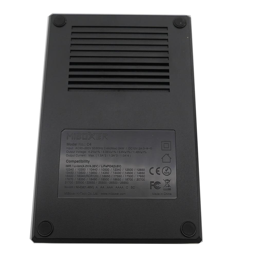 Image 4 - Atacado lcd inteligente carregador de bateria miboxer c4 para li  ion imr icr lifepo4 18650 14500 26650 21700 aaa baterias 100 800 mah  1.5aAcessórios portáteis de iluminação
