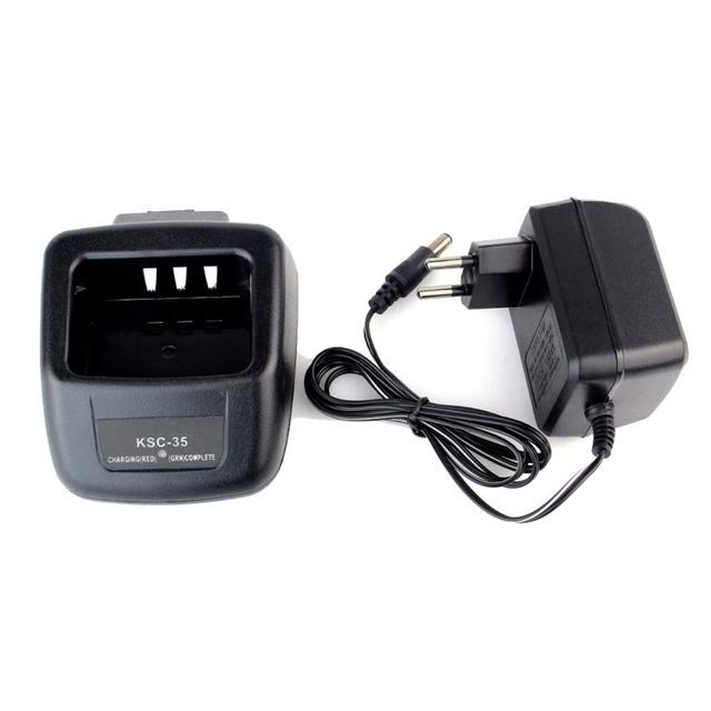 Ksc-35 li-ion cargador rápido de batería li-ion 110 v/220 v para kenwood knb-45l knb-45 walkie talkie jamón de radio hf transceptor j6202a