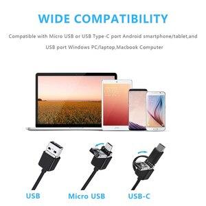 Image 3 - 3IN1 Mini caméra Endoscope HD 1200 P IP68 Tube Flexible dur serpent Endoscope Inspection vidéo pour PC Android voiture Endoscope 2 M