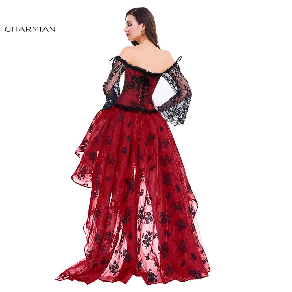 d3b80282d ... Charmian Women's Vintage Steampunk Corset Dress Victorian Retro Gothic  Corset Top Burlesque Lace Corset and Bustiers ...
