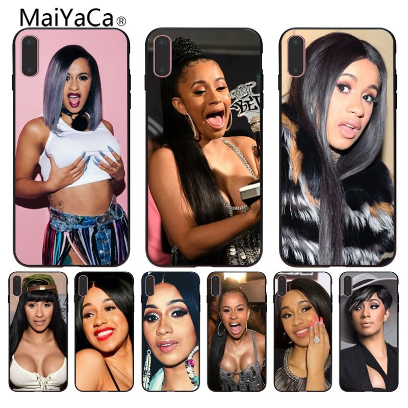 MaiYaCa Cardi B Customer Custom Photo Soft Phone Case For iphone 6 6s 6plus 7 7plus 8 8plus 5 5s XR Case cover