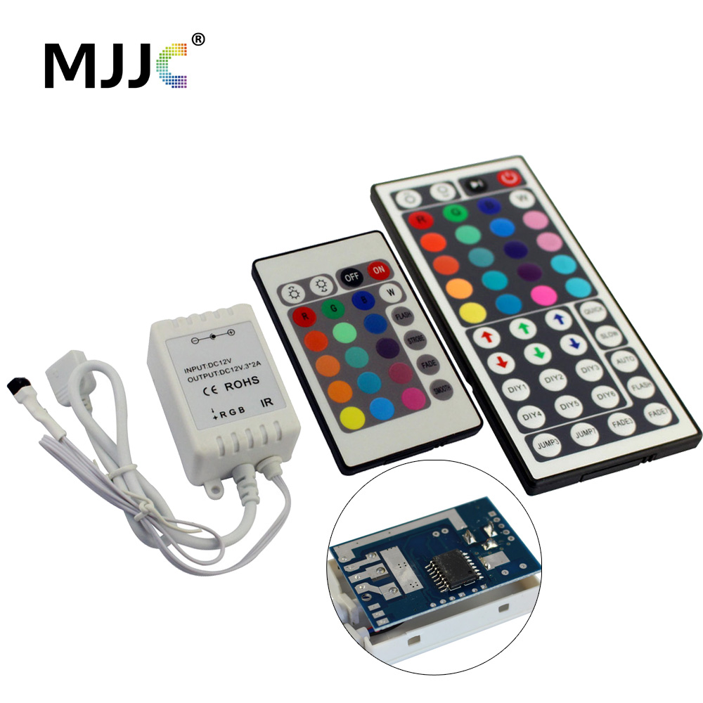 LED RGB Controller 44 24 Key 12V 24V 3Channels 72W PWM IR 8-10M Wireless Remote Controller for 5M RGB 5050 LED Strip Light