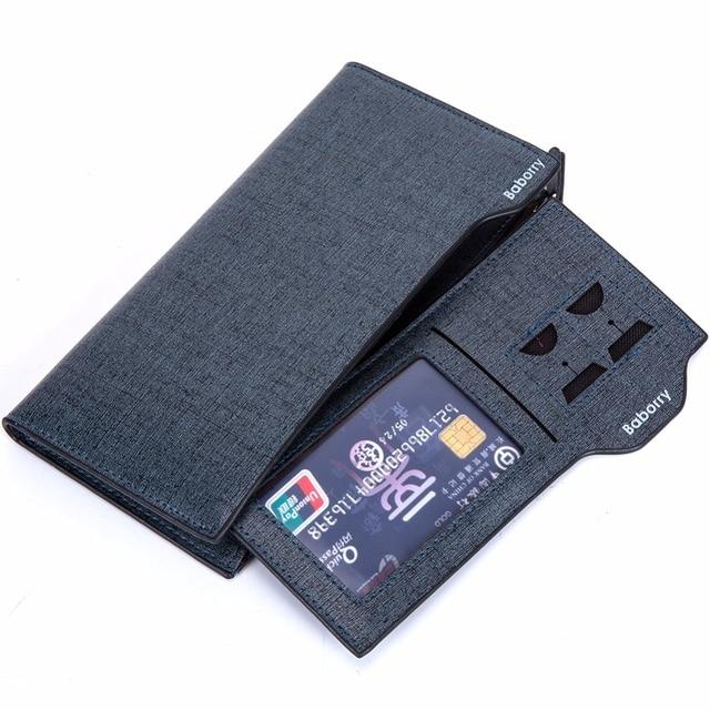 2016 Men Long Wallet Coin Bag zipper ID Credit Card Holder Bifold Coin Purse Top Brand clutch Wallet Pockets Promotion Gift