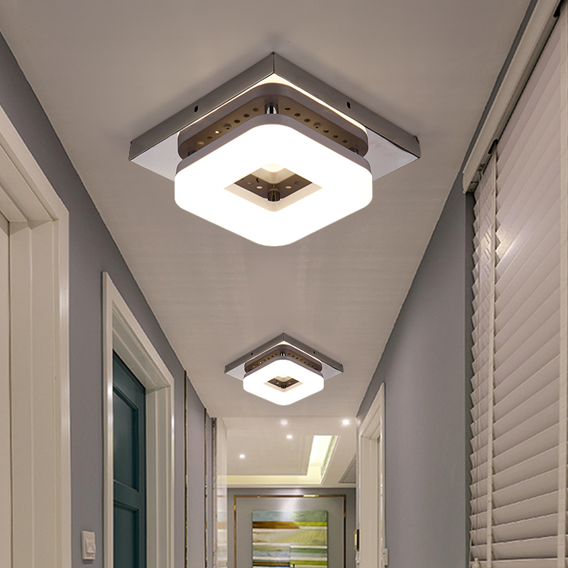 Image 3 - Artpad American 12w Surface Mounted Square Led Ceiling Lights for Hallway Light Porch light Balcony Walkway Ceiling Light China-in Ceiling Lights from Lights & Lighting