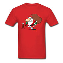 Lasting Charm Chimney Sports T Shirt Christmas Santa Claus Men Red Sports T-shirt Novelty Gift Top Tee(China)