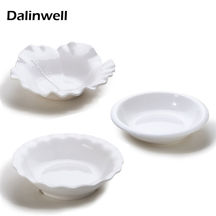 2017 Chinese Plastic Melamine Chicken Dessert Sandwich Pizza Deep Flower Plate Dinner Dish Restaurant Tableware Hotel Supplies