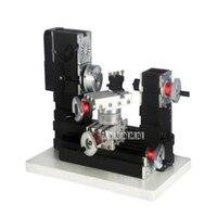 High power Mini Metal Machine Tool Milling Machine Rotary Lathe DIY Woodwork Metal Lathe Rotating Lathe 110V/220V 60W 12000r/min