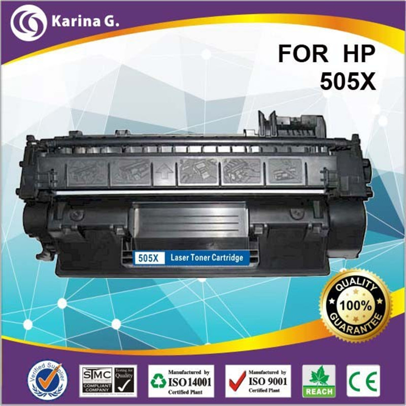 HIGH YIELD 6500 PAGE YIELD for HP505X 505X comaptible toner cartridge for HP Ce505X a+Quality free shipping high page yield toner 12x compatible