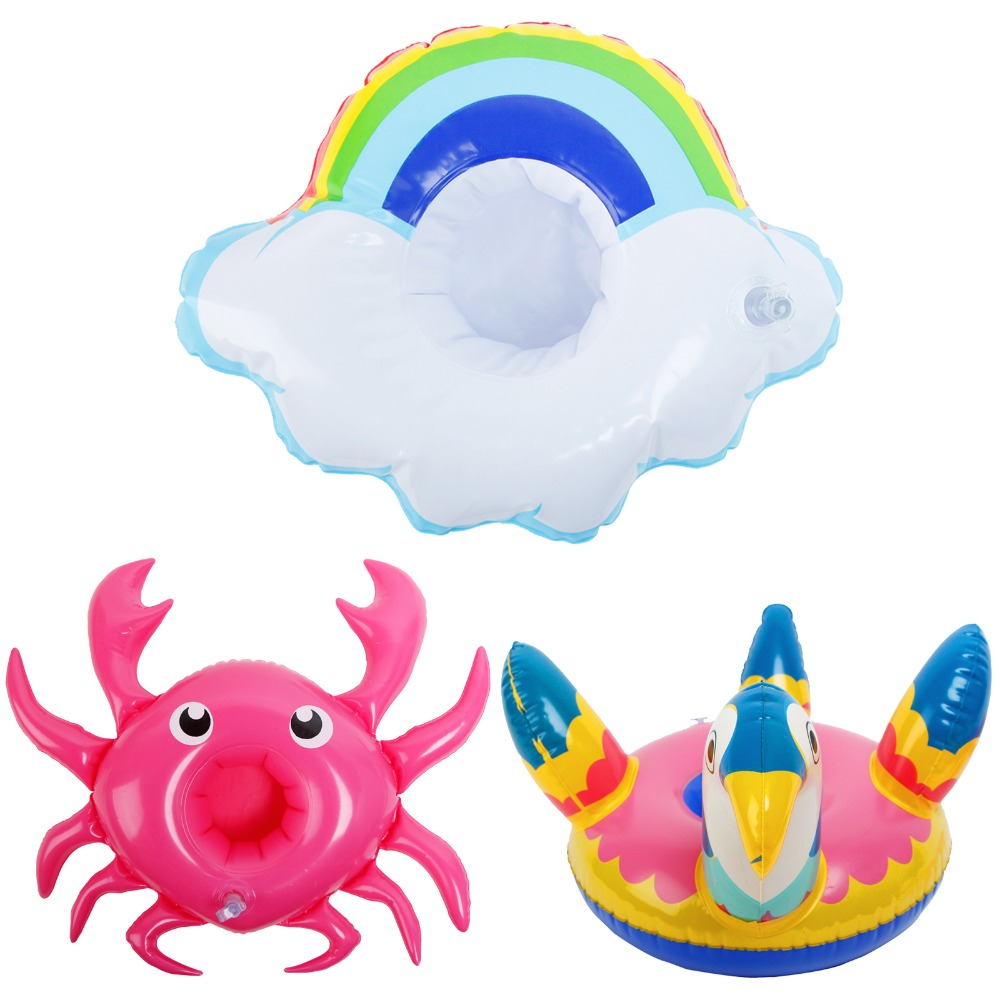 High Quality Doll Swimming Ring Mixed Style Crab Cute Bird Cloud Inflatable Lifebuoy For Barbie Doll Accessories Kids Toy