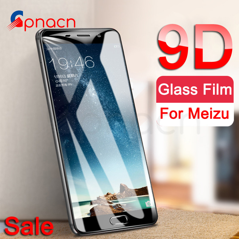 9D Tempered Glass On The For Meizu M6 M5 M3 Note M5S M5C M6S M6T M3S M8 Pro 7 Plus Screen Protector Protective Glass Film Case