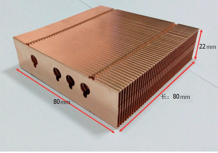 Various Styles 80*80*22mm Pure Copper Radiator Copper Cooling fins Copper fin Can be DIY longer heat sink radiactor fin notebook graphics card thermal conductivity copper cooling copper 30 30 3 0mm pure copper computer heat fins 30x30x3 0 radiator