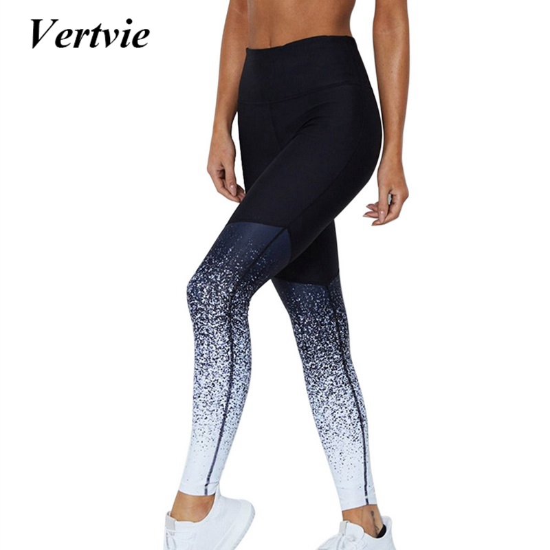 Vertvie Sport Pants Compression Tights Female Slim Sports Clothing Women Yoga Pants Leggings Fitness Yoga Running Tights 2018 reflective leggings glow in the dark night light side stripes shiny sports yoga pants dancing tights sportswear for women female