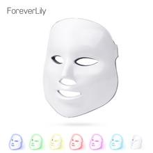 Foreverlily 7 цветов светодио дный маска для лица фотонная терапия легкая омоложение кожи лица PDT уход за кожей красота маска