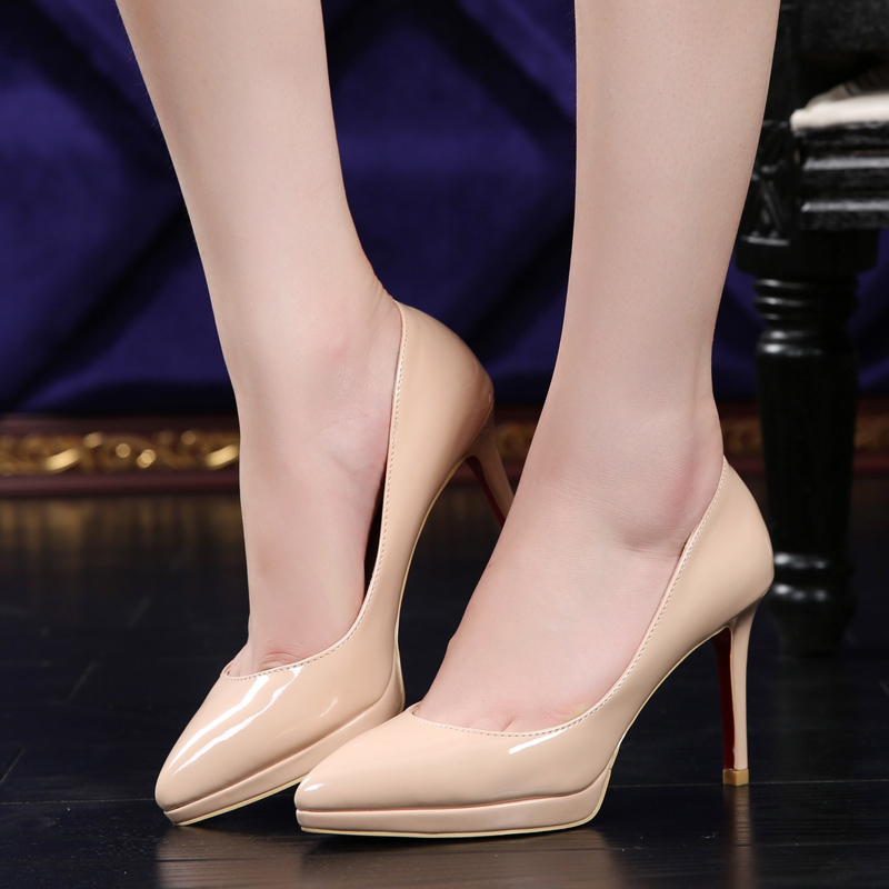 Authentic second hand nude platform pumps by sergio rossi