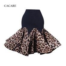 Юбка для латинских танцев Женская Одежда для танцев изысканное качество D0327 Леопардовый принт гофрированный пушистый подол