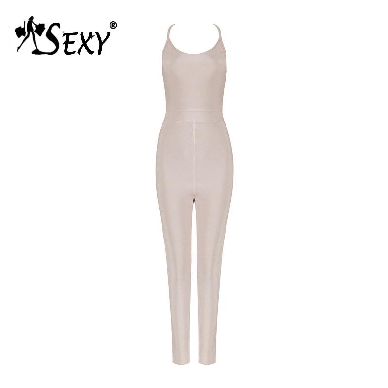 Combinaison Solide Pink Pour Sexy La Backless Strap Femmes Longueur Maigre De Spaghetti 2018 Mode Body Nouveauté Bandage Gosexy Toute Lady Apricot AqaSx