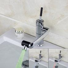 e-pak YANKSMART LED Rotatable Water Tap Bathroom Sink Faucet basin faucet  Kitchen Swivel Faucet Hot And Cold Mixer Taps