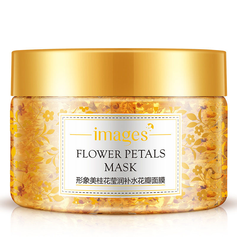 Images Flower Petals Sleeping Mask Cream No Wash Moisturizing Night Cream Anti Aging Anti Wrinkle Nutrition Face Cream 2