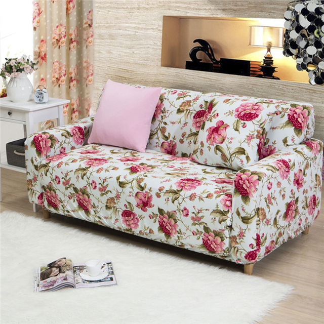 Lovely 2017 New Style Fashion Flower Sofa Cover Big Elasticity Couch Cover  Loveseat Machine Slip Resistant