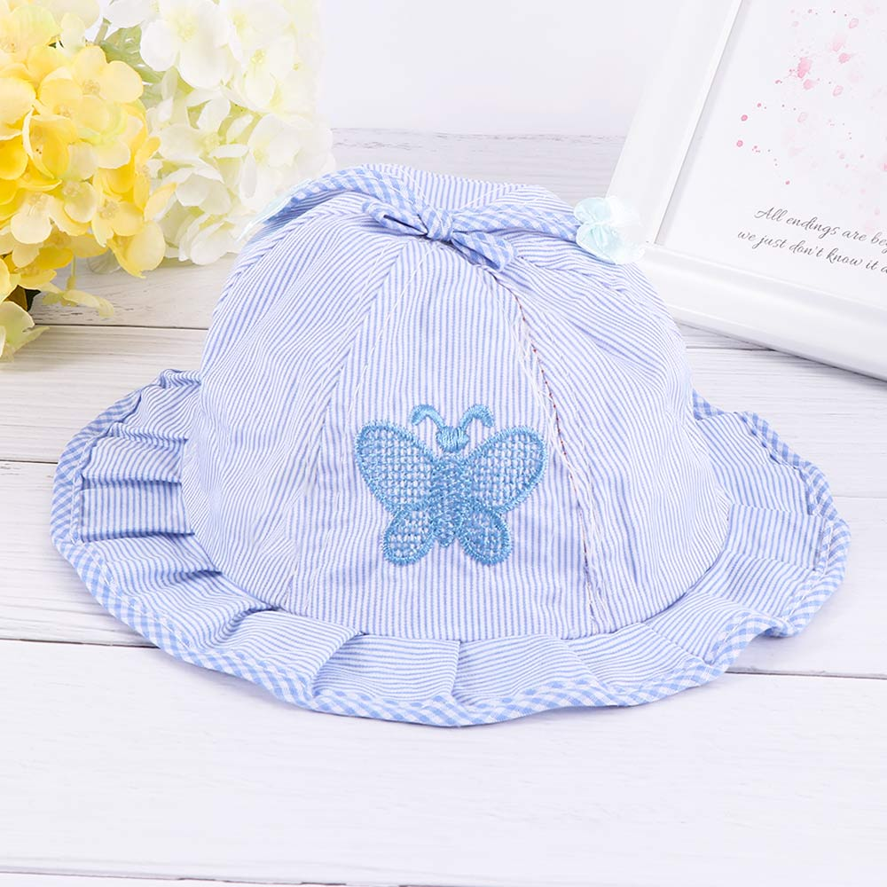 1PC Kids Cotton Blend Baby Hat Caps Bow-knot Infant Sun Hats Baby Butterfly Hat
