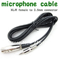 FREE SHIPPING Audio 3 meter  Mic Cable Patch Cords  3.5mm connector to  XLR Female High Quality Mic Cable