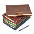 Di alta Qualità Rustico Genuino Anelli In Pelle Notebook A5 A Spirale Diario Brass Binder Ufficiale Sketchbook Agenda Planner Cancelleria