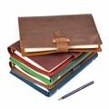Hoge Kwaliteit Rustiek Lederen Ringen Notebook A5 Spiraal Dagboek Messing Bindmiddel Journal Sketchbook Agenda Planner Briefpapier