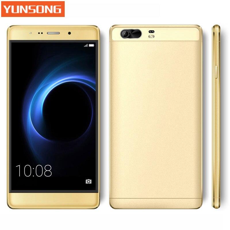 2017 original teléfono móvil yunsong s9 plus cámara de 16mp 6.0 smartphone pulga