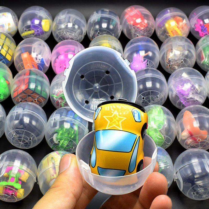 10pcs/set Mini Surprise Egg With Funny Toys Animals Gun Car Cube Magic Collection Toys Gift For Children #E
