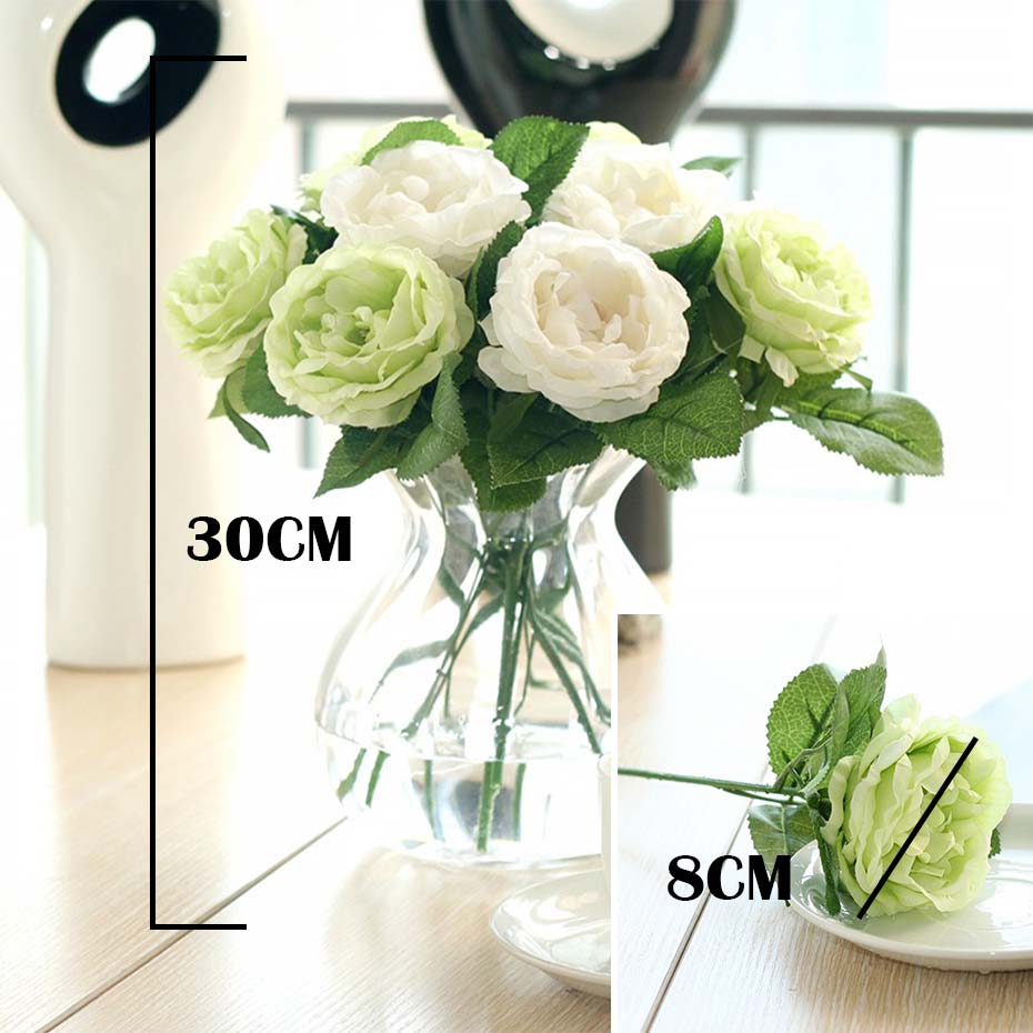Silk artificial flowers rose flowers bouquet floral christmas colorful flowers for your weddingparty decoration vivid looking be realistic like real flowers add them to your diy craft birthday send flower izmirmasajfo
