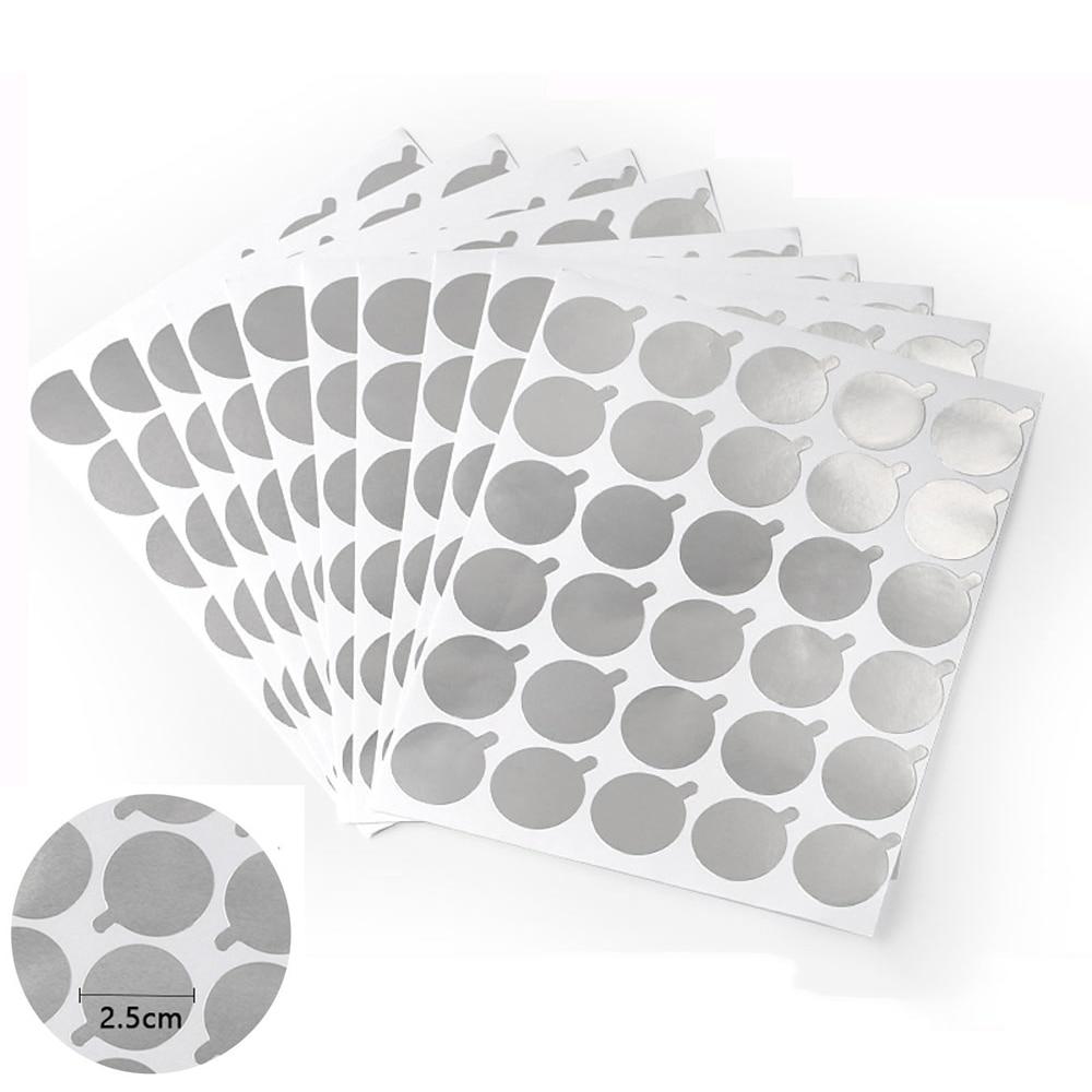 Yelix 100/300pcs Disposable Eyelash Glue Holder Pallet Size 2.5cm Jade Stone Holder Glue Pads For Eyelash Extension Makeup Tool