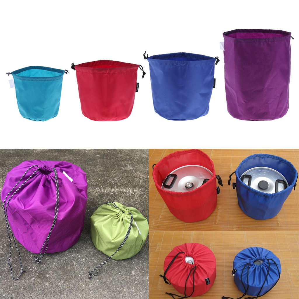 Outdoor Multipurpose Drawstring Storage Bag Container Pack Sack For Camping Hiking Fishing Backpacking Dish Steamer Pot Clothing