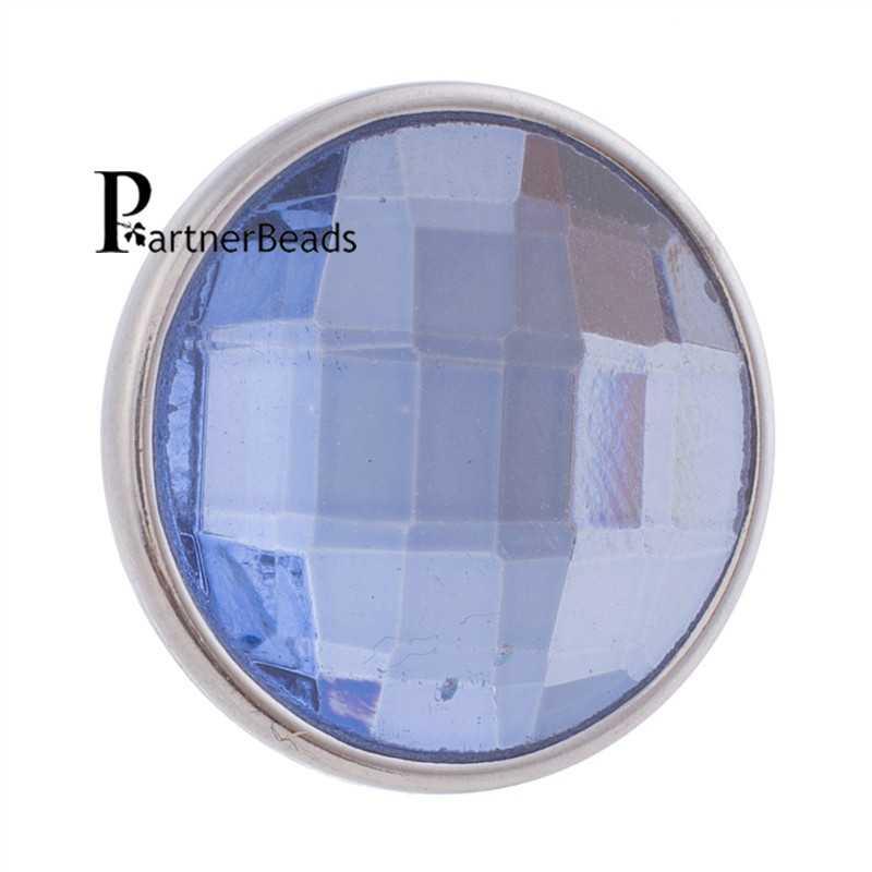 18mm facetté cristal s'enclenche facette verre boucle d'oreille fit boucle d'oreille anneau KB2701-AL
