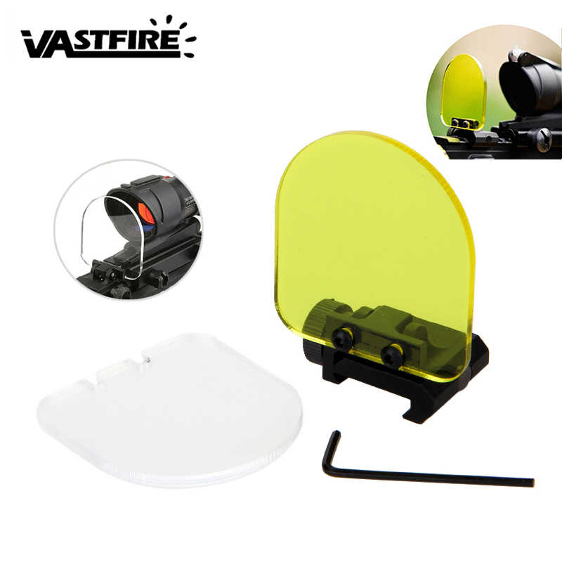 Ronde/Vierkante Opvouwbare Airsoft Sight Scope Lens Screen Protector Cover Shield Panel 20mm Rail Mount voor Rifle Scope sight