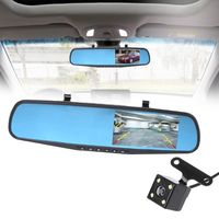 4.3'' 1080P Dual Lens Car Auto DVR Mirror Dash Cam Recorder+Rear View Camera Kit Drop Ship