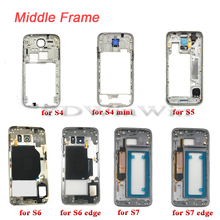 1pcs Middle Frame Housing For SAMSUNG Galaxy S4 S5 S6 S7 edge i9505 i9