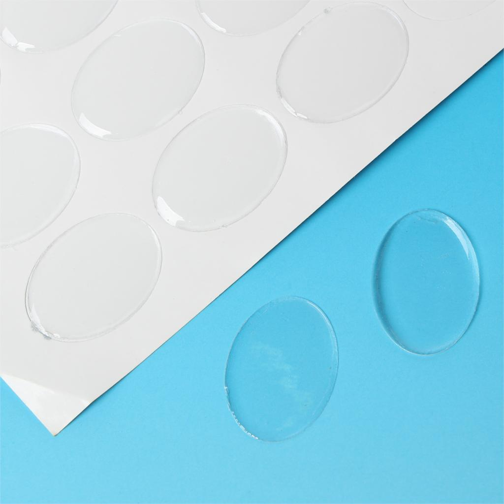 8SEASONS Clear Oval Epoxy Domes Resin Stickers 25mm(1) x 18mm( 6/8),64 Pcs 6 amp 3 9mh epoxy resin embedding common mode choke inductor