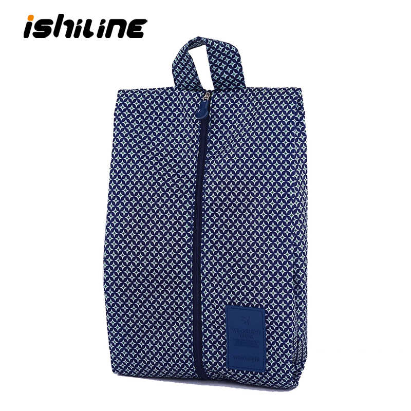 Convenient Waterproof Nylon Portable Travel Shoe Storage Bag Pouch with Zip