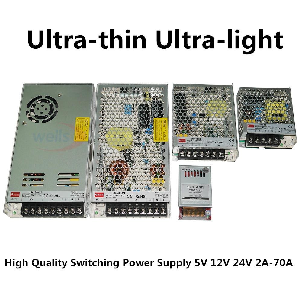 LED 12 V 24 V až 2A 4A 8A 10A 14A 16A 20A 29A Napájecí transformátor Adaptér pro svícení světel Spínaný napájecí zdroj